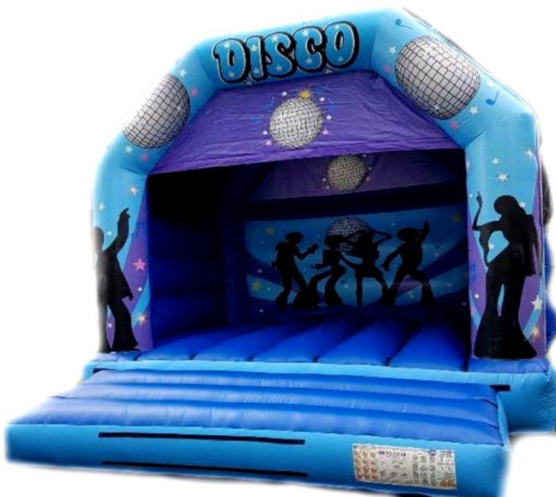 Blue and Purple Disco Bouncy Castle