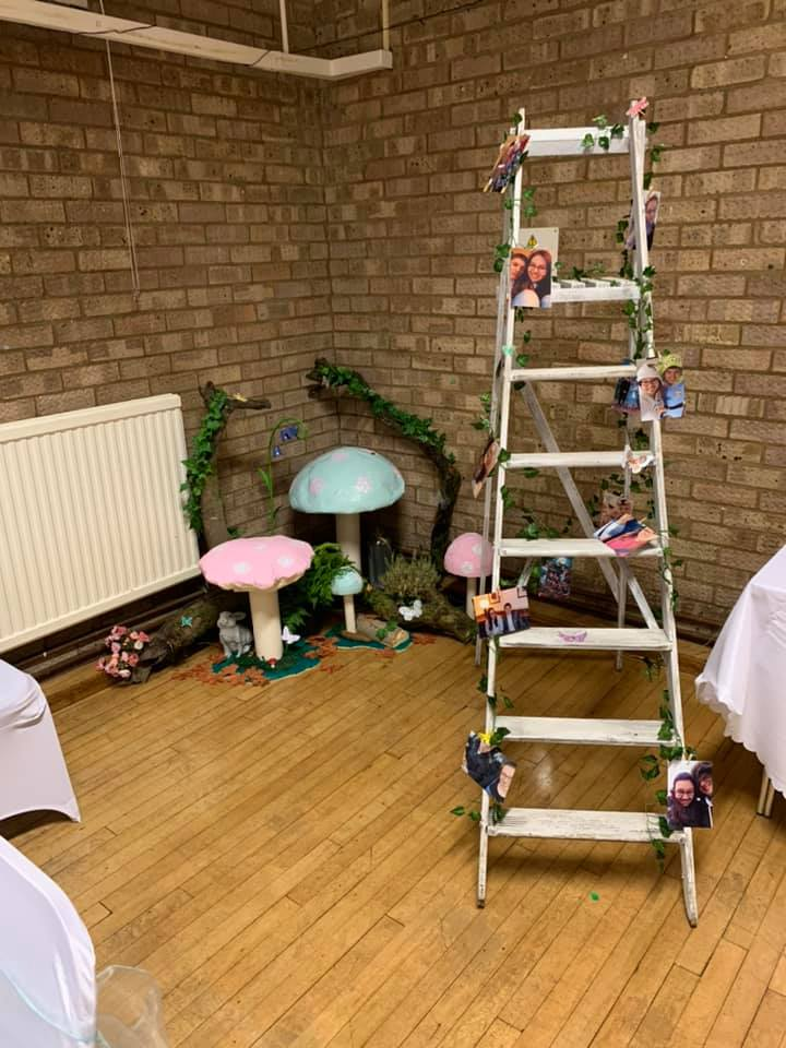 Rustic wedding ladder hire