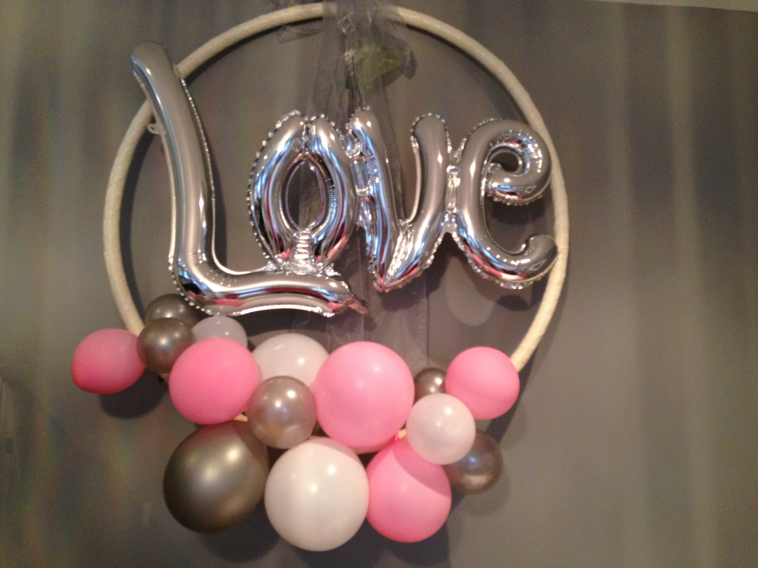 Love balloons helium filled