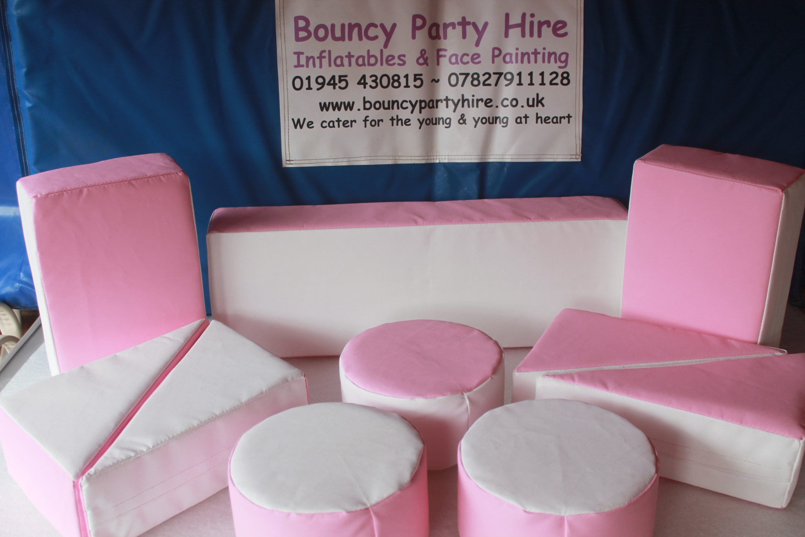 Plain Pink Soft play set hire