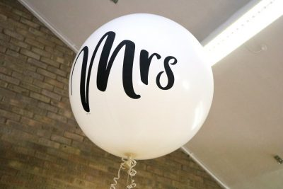 Mrs and mr helium balloons for sale