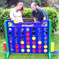Connect 4 hire giant garden games
