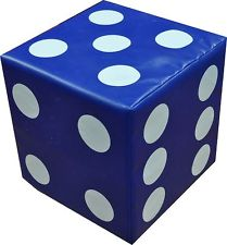 Large foam dice hire
