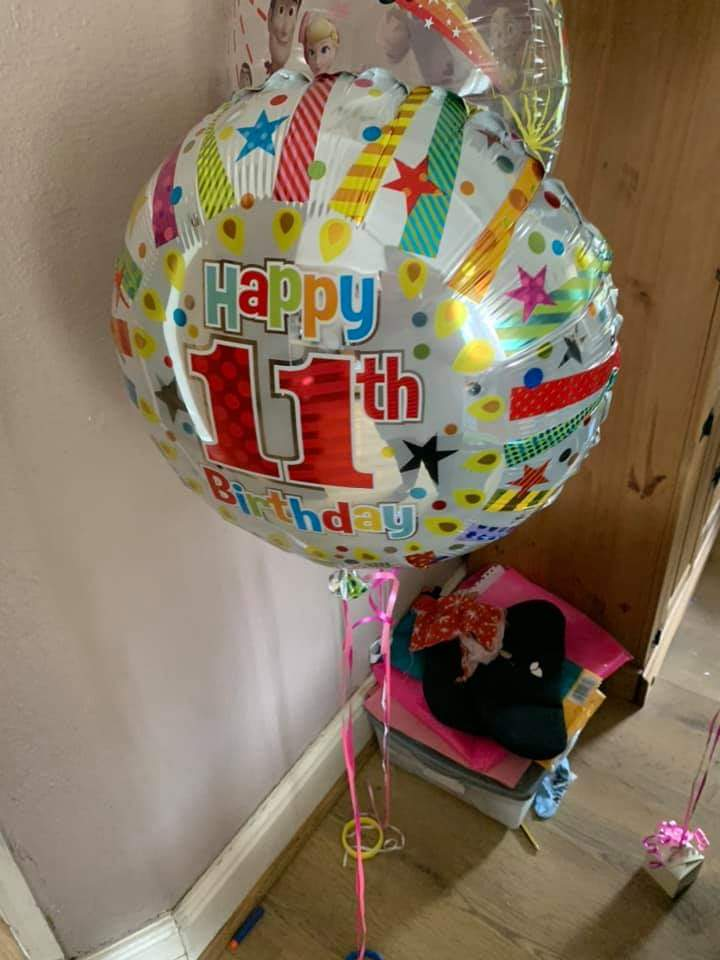 11th Birthday helium foil balloon for sale