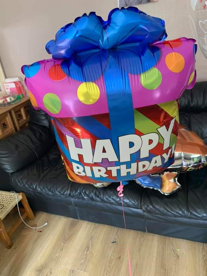 Happy birthday box balloon for sale