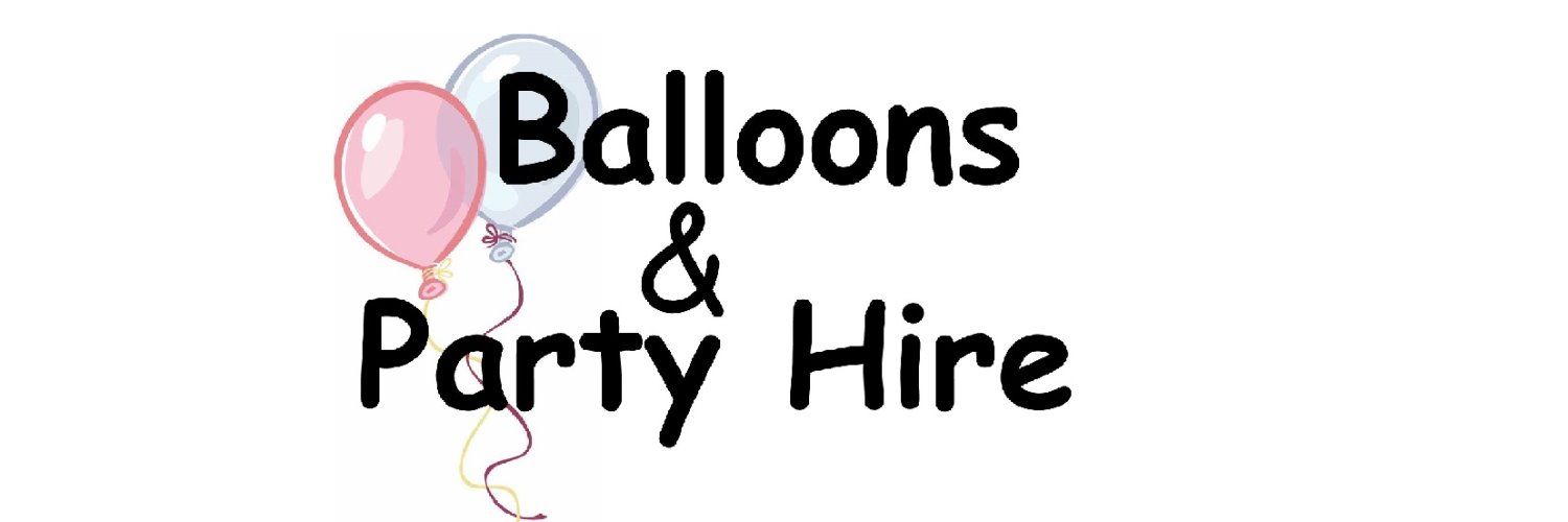Balloons and party hire Logo
